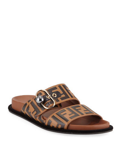 7f1545560059 Pearland FF Leather Slide Sandal Quick Look. Fendi