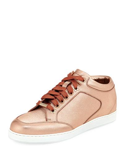 Miami Metallic Leather Sneaker