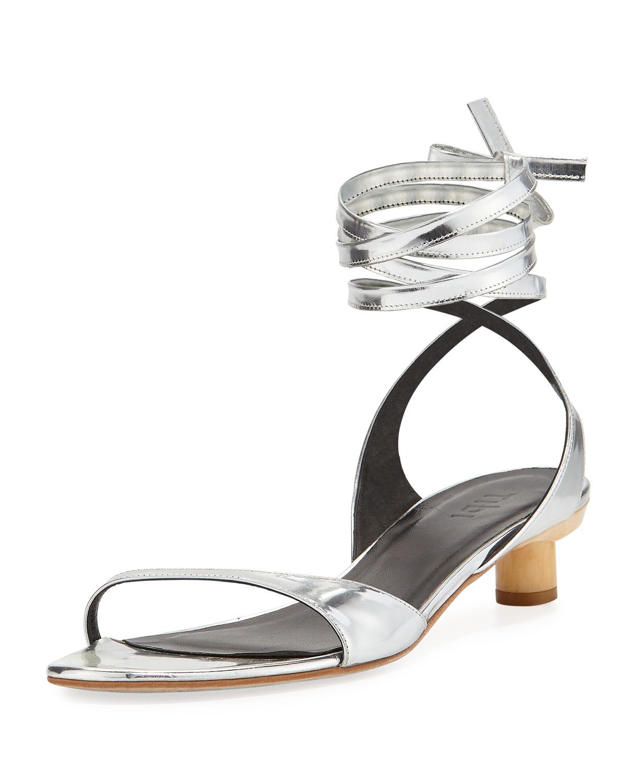 Scott Metallic Ankle-Wrap Sandal