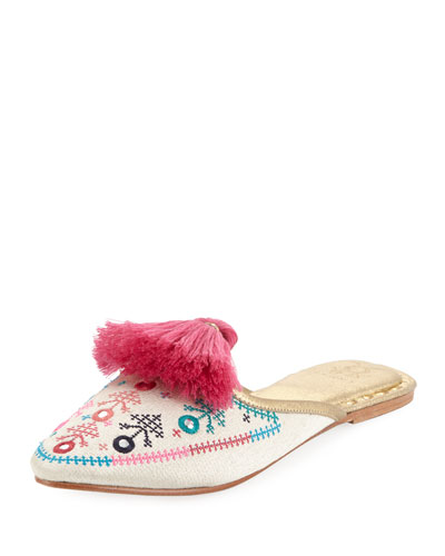 Joanna Embroidered Mule Slide