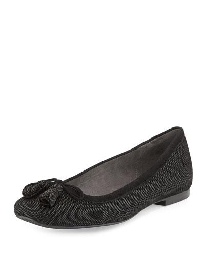 Tulipbow Goosebump Ballerina Flat, Black