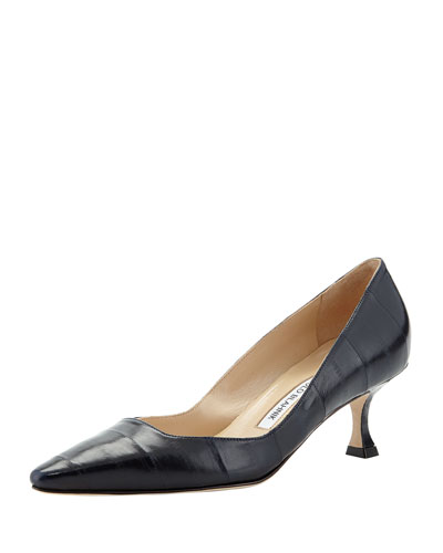 Twixpla Low-Heel Eelskin Pump