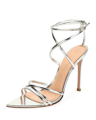 Strappy Metallic 105mm Sandal