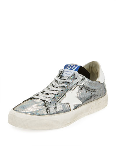 May Metallic Leather Sneaker