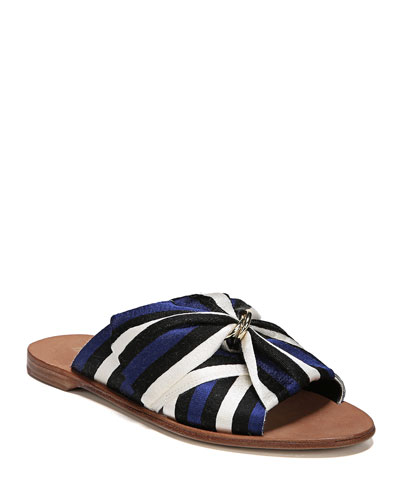 Bella Flat Slide Sandal with Bow