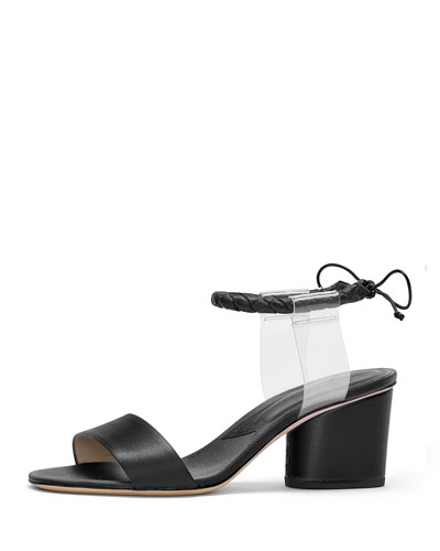 Paul Andrew Estes Braided Ankle-Strap Illusion Sandal