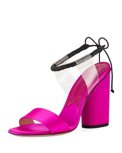 Estes Braided Ankle-Strap Illusion Sandal