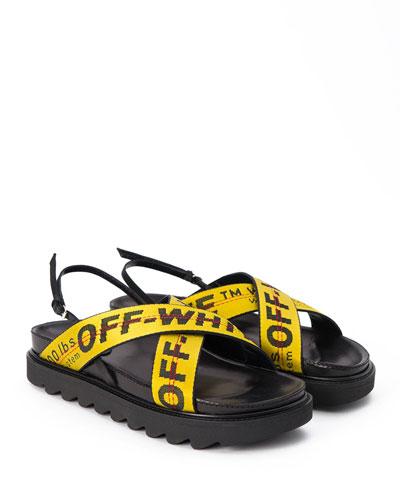 Flat Belt Logo Sandal