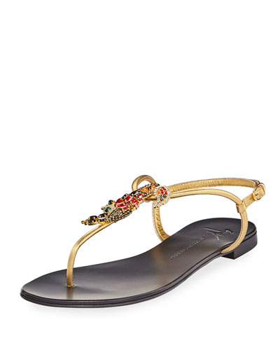Crystal Toucan Thong Sandal