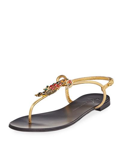 Crystal Toucan Thong Sandal