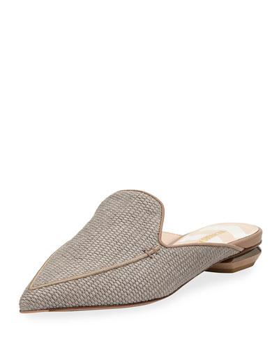 Beya Flat Chunky Raffia Loafer Mule