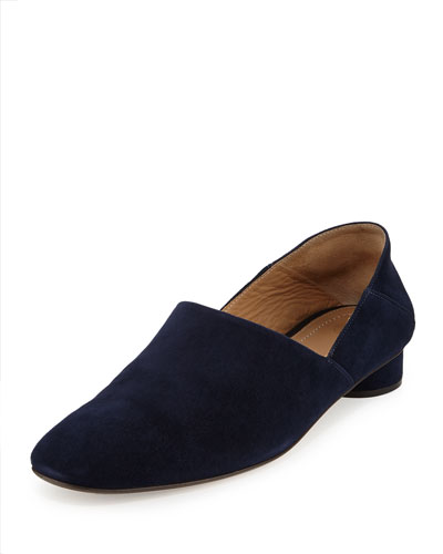 Noelle Suede 30mm Flat, Navy