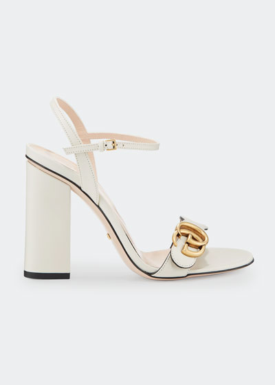 03d5037ae36d Marmont Leather Block-Heel Sandals