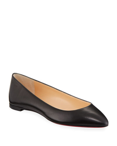 Eloise Napa Leather Red Sole Flat
