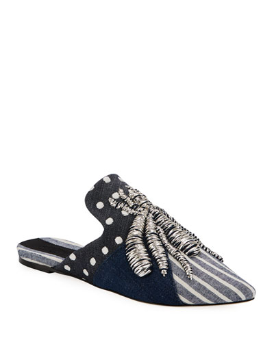 Spider Multi-Denim Slipper Mule