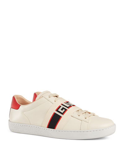 purchase cheap 1a76d 82203 New Ace Gucci Band Leather Sneaker
