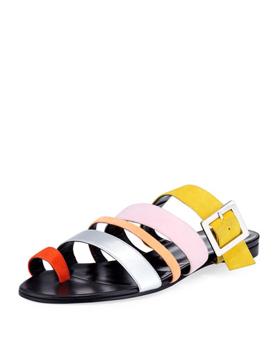 Dani Strappy Suede Slide Sandal