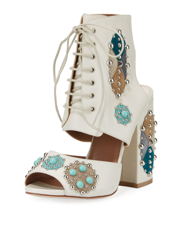 Romo Studded Lace-Up Sandal