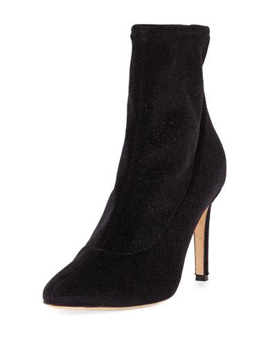 Embellished Velvet Boot