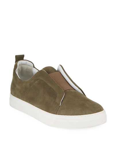 Slider Suede Stretch Low-Top Sneakers
