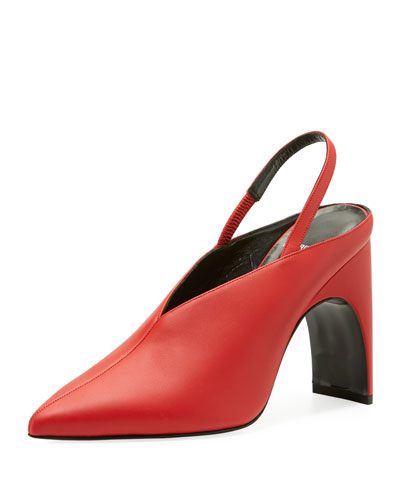 Jessie High-Vamp Slingback Pumps