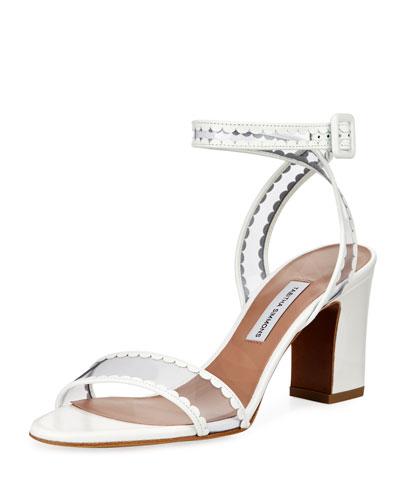 Leticia Frill Block-Heel Sandal