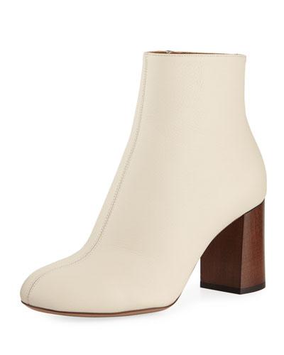 Harper Block-Heel Leather Bootie