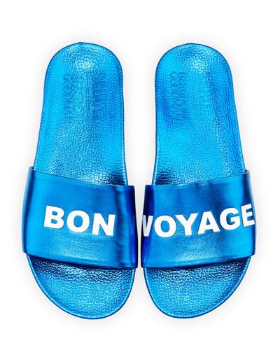 Bon Voyage Metallic Slide Sandal