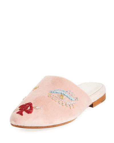 Lucky II Beaded Slide Mule