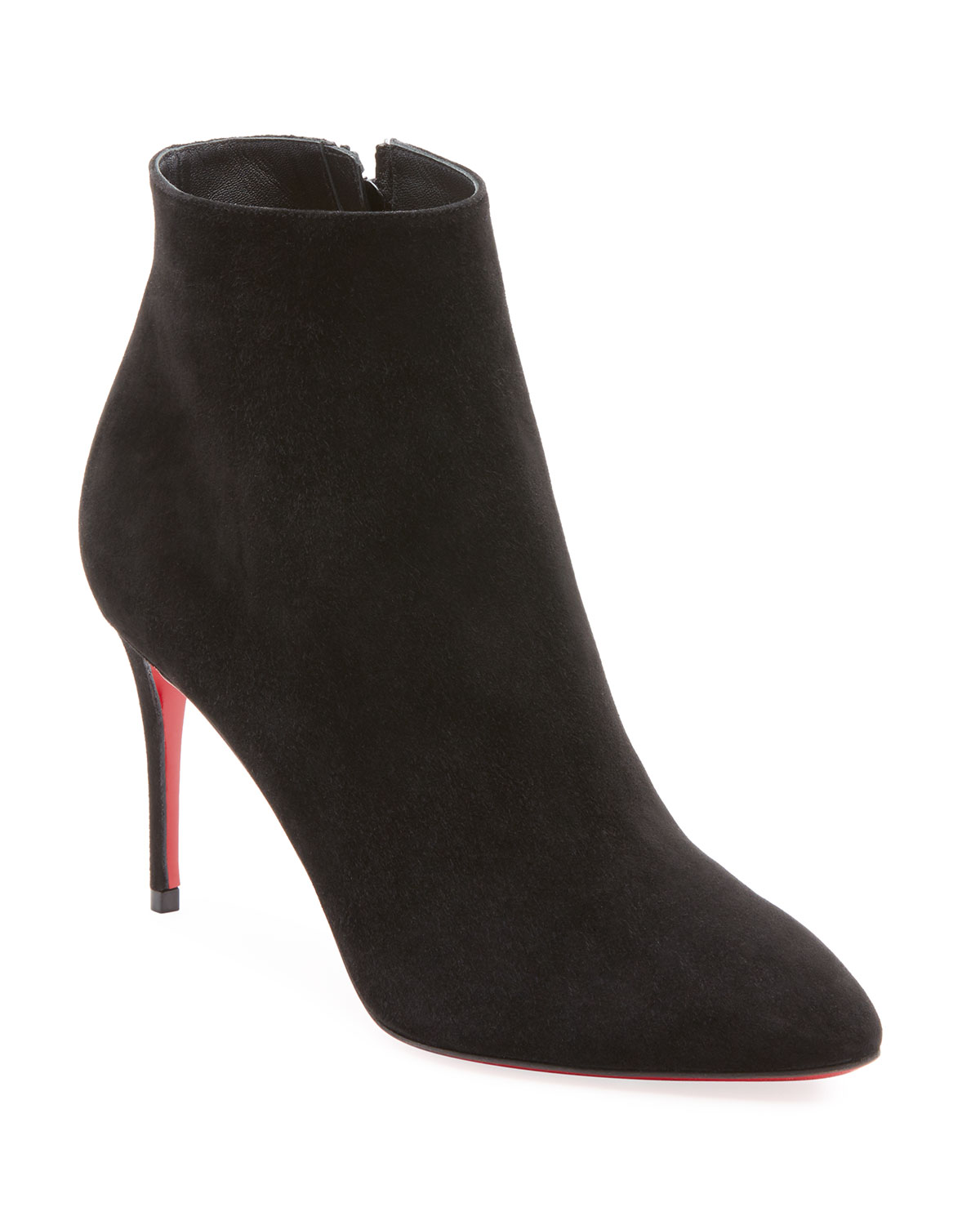 CHRISTIAN LOUBOUTIN ELOISE SUEDE RED SOLE BOOTIE