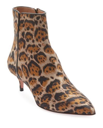 Quant Jacquard Leopard Booties