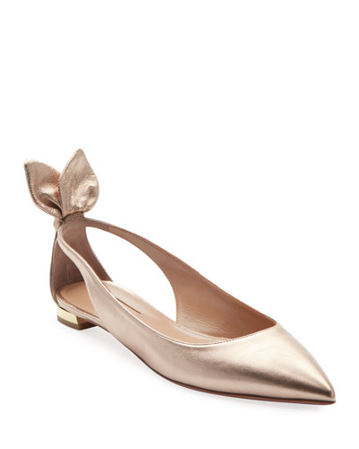 Deneuve Metallic Leather Ballet Flats a42cdcac261d