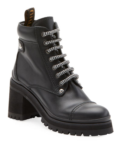 Leather Platform Hiker Boot