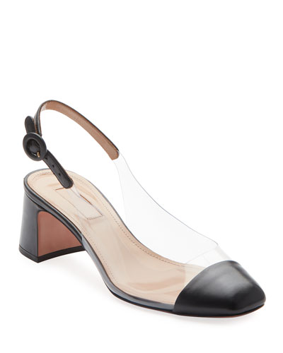 Optic 50mm Napa/Vinyl Slingback Pumps