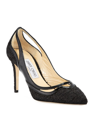 Hickory Woven High Pumps