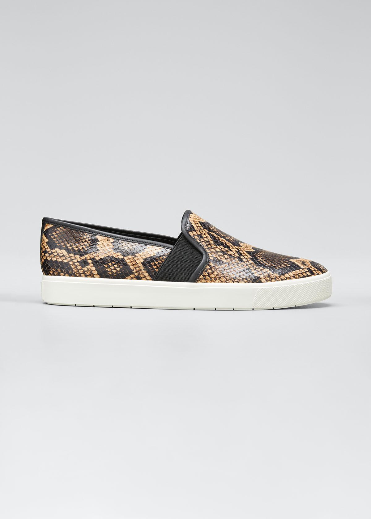 Blair Snake-Print Platform Sneaker