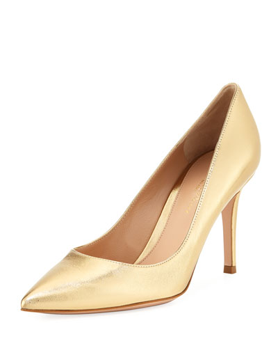 Pointed Metallic High Pumps