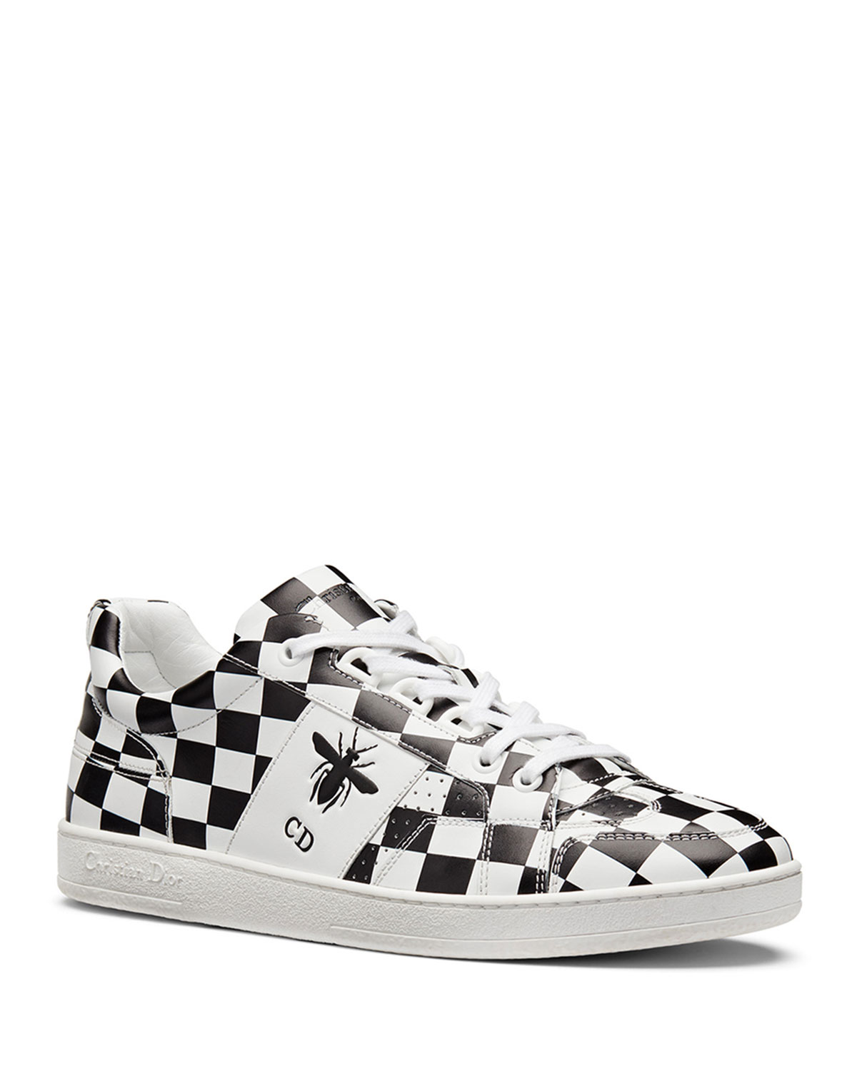 D-BEE PRINTED CALFSKIN CHECK TRAINER