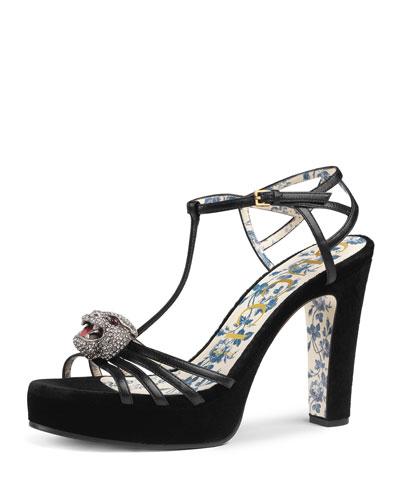7001c448c868 Gucci Crystal Shoes. Velvet Platform Sandals