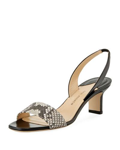 Longo Python-Embossed Sandal