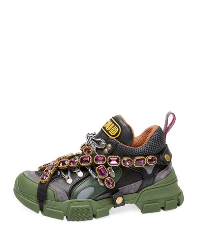 Gucci Flashtrek Hiker Sneaker With Chain Strap