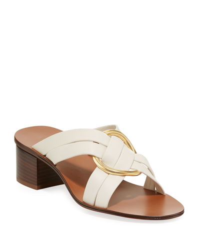 Rony Strappy Sandal with Gold Ring