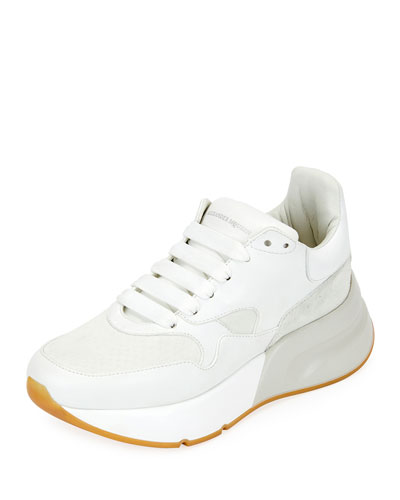 Lace-Up Platform Trainer Sneakers
