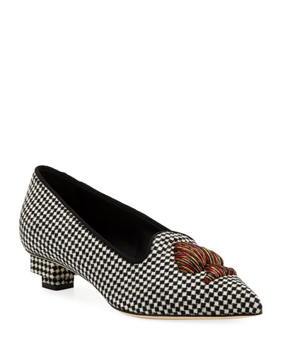 Need Houndstooth Pointed Loafers