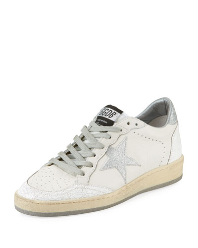 Golden Goose Ball Star Leather Low-Top Sneakers