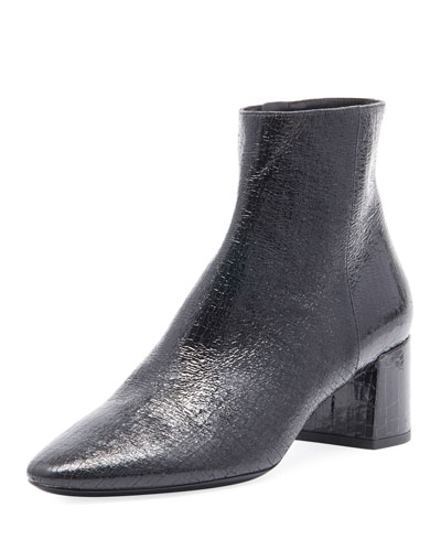 LouLou Cracked Patent Booties