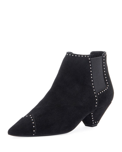 Studded Suede Ankle Booties