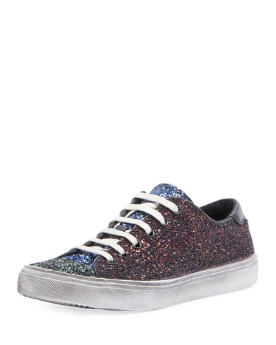 Colorblock Glitter Low-Top Sneakers