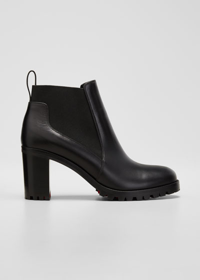 Marchacroche Leather Red Sole Booties