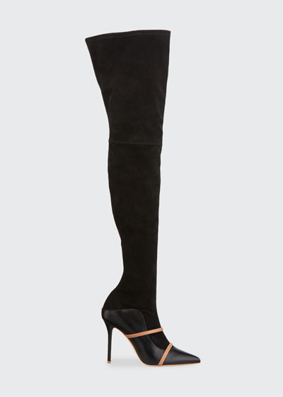 Madison Suede/Napa Over-The-Knee Boots